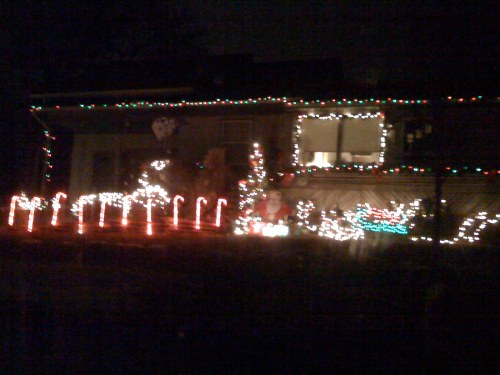 3) What you can't see are the two candy canes in their yard. Fo Serious.